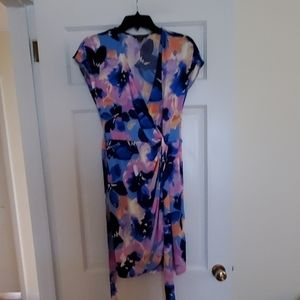 Maggy London petite abstract print wrap dress